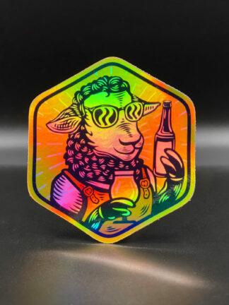 autocollant-sticker-holographique-brebis-galeuse