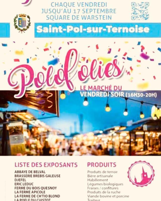 🌈SAVE THE DATE - VENDREDI 11 JUIN ✨(16h30 - 20h)  Les terrasses sont rouvertes et on peut enfin se fixer une date pour se rencontrer ou se revoir 👍🤗🥳 !!!!   Et oui, nous faisons partie de la team des exposants aux Polofolies !!! 🥰  Nous serons donc présents ce vendredi pour le marché estival nocturne qui se déroule dans le parc Warstein de Saint-Pol-sur-Ternoise !  Nous serons entourés de ... bières mais aussi de producteurs locaux super sympathiques ... le tout sur fond d'animations et concert 🎶 🍻.   À vendredi les amis 😁  Anaëlle & Alexis   #brasseriebrebisgaleuse #saintpolsurternoise #beernight #marchenocturne #beertime #polofolies